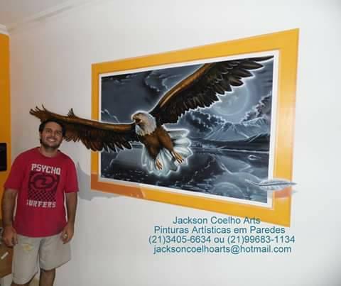 Pintura Em Parede De Sala águia 3d Jackson Coelho